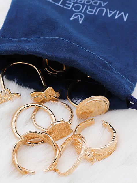 bagues plaqué or - mauricette a.dorée