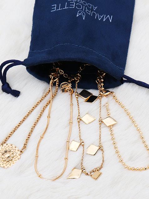 bracelets plaqué or - mauricette a.dorée